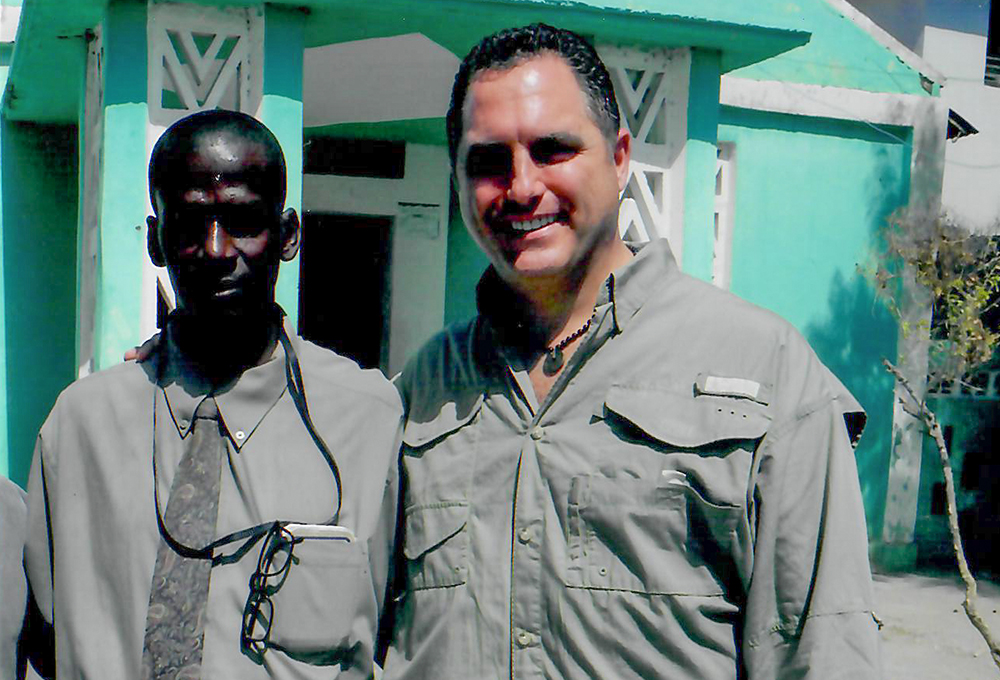 Chris Salamone in Haiti